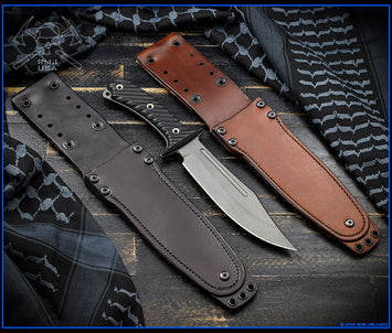 Jungle Combat Leather Sheath