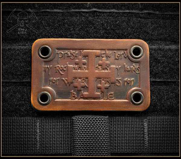 Jerusalem Cross Leather Patch