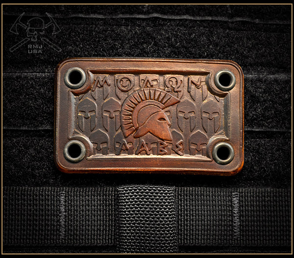 Molon Labe Leather Patch
