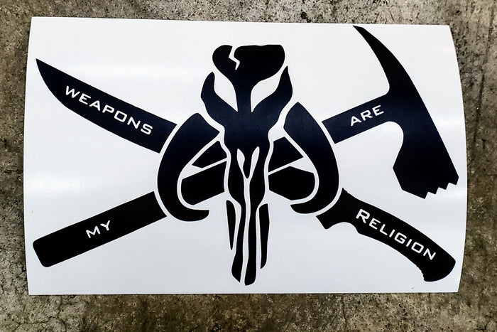 Weapons Are My Religion Vinyl Decal