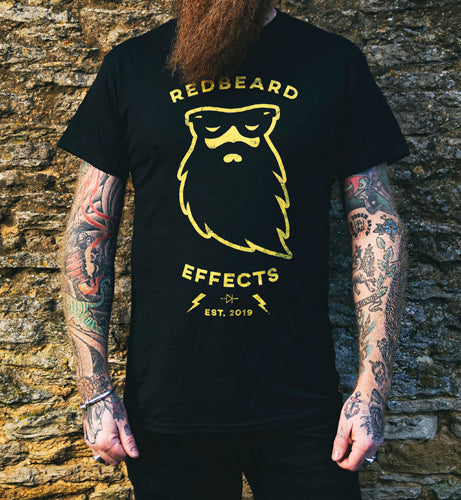 Redbeard Effects Vintage T-Shirt - Black 100% Cotton