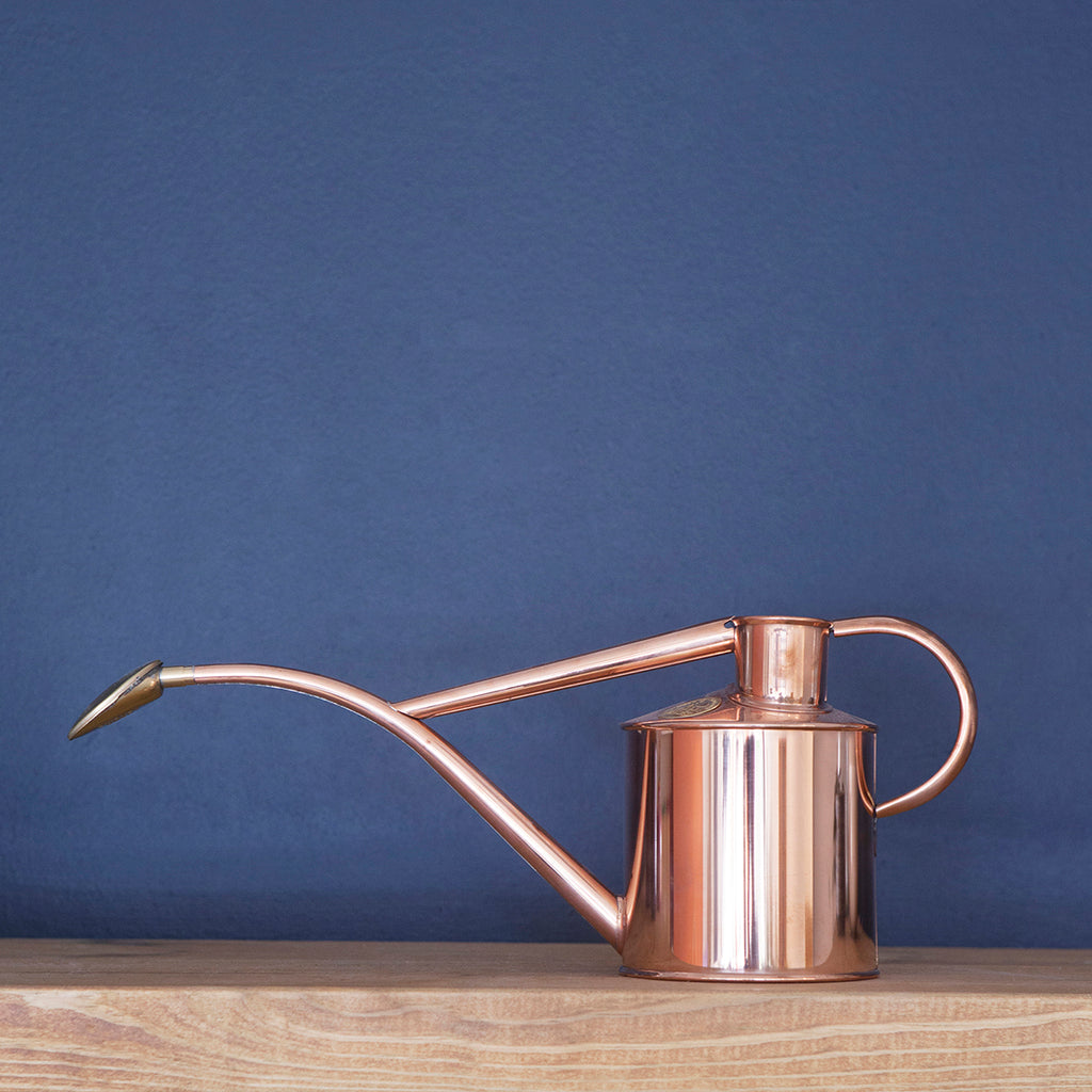 Haws indoor watering can; Copper