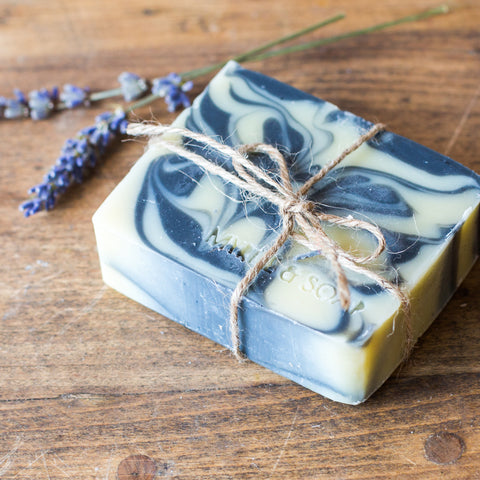 Natural soap DEEP DUSK by Myrtle and Soap.