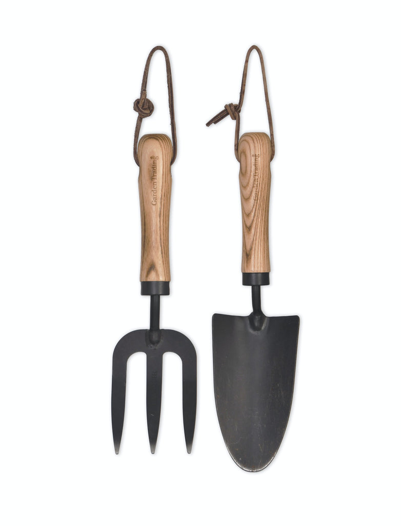 Horton Fork and Trowel Set in Black