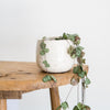 Ceramic white crackle glaze pots