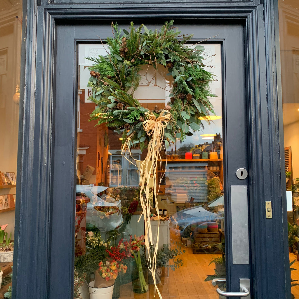 Christmas wreath workshop, Newcastle, Jesmond flower shop
