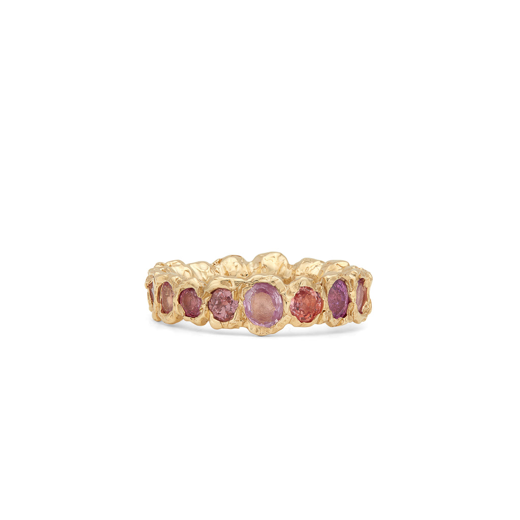 Freja Rainbow Ring, Light Pink
