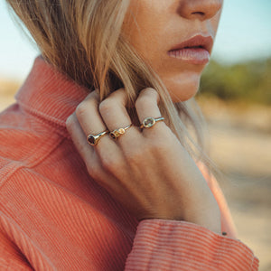 Freja Ring Golden Shades