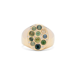 Alfa Rainbow Signet Ring Big