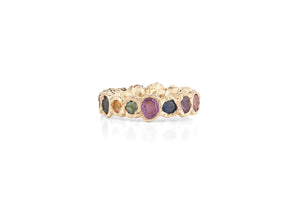 Freja Rainbow Ring, lighter and darker shades