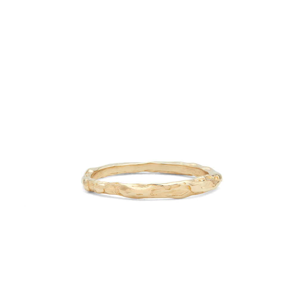 The stackable Odette Line Ring with Fie Isolde's signature look, handmade in 14-karat gold. Wear the ring by itself for a classic more minimalistic look or stack it with a variety of Fie Isolde's other Odette rings with diamonds and precious stones. PRODUCT DETAILS:   Bracelet in 14-karat gold.  Handmade in Los Angeles SIZE & MEASUREMENTS:  Ring width: 1.5-2 mm