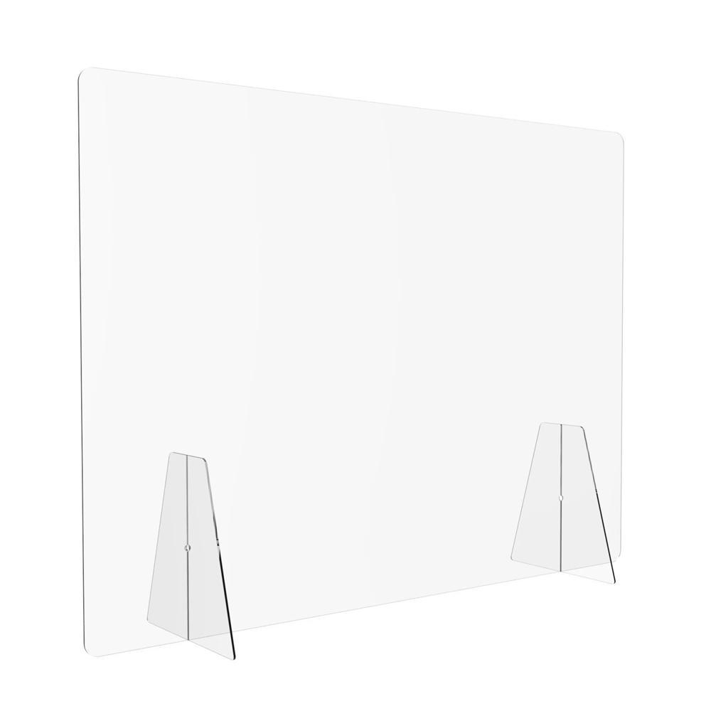 Flat Pack Sneeze Guard Free Standing - Displaypro