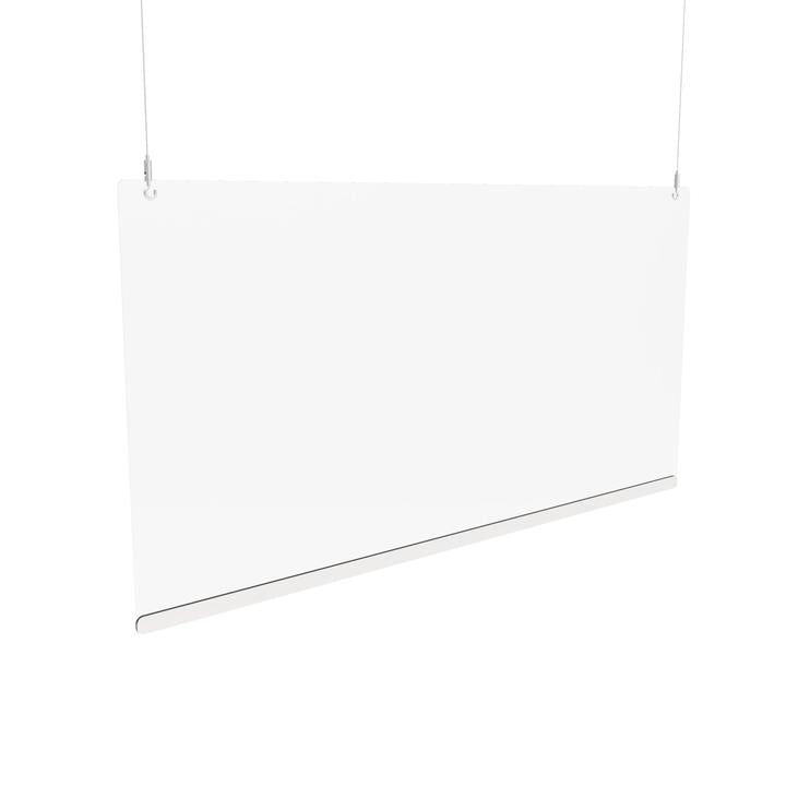 Pro Hanging Sneeze Guard Clear Plastic Screen Height Adjustable - Displaypro