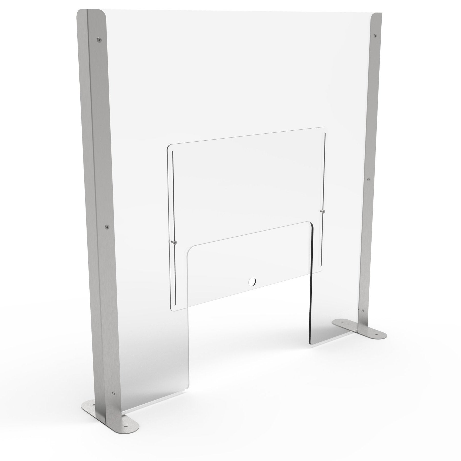 Pro Sneeze Guard with Acrylic Screen & Stainless-Steel Legs - Displaypro