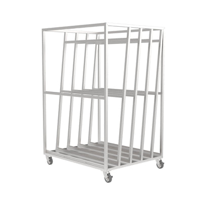 Stainless Steel Warehouse Racking Trolley - Displaypro