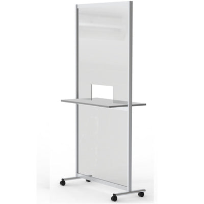 SteriMax Mobile Acrylic Screen Divider with Counter - Displaypro