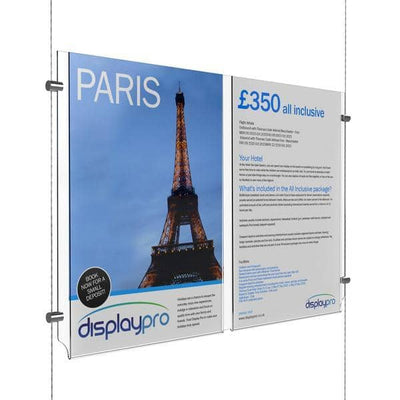 A4 Double Easy Access Poster Pockets Only - Displaypro