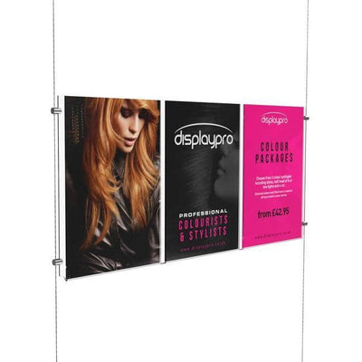 A4 Triple Easy Access Poster Pockets Only - Displaypro