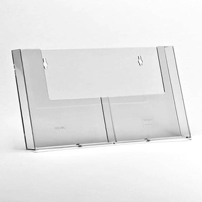 A5 slatwall 2 bay side by side leaflet holder - Displaypro
