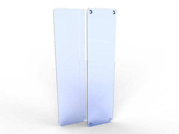 Acrylic Door Push Plates - Screw Holes - Displaypro