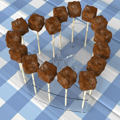 Acrylic Heart Cake Pop Stand - Displaypro