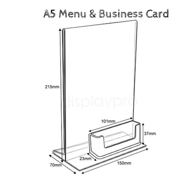 Acrylic Menu Holders & Business Card - Displaypro