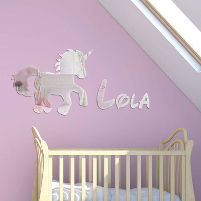 Acrylic Mirror Unicorn With Childrens Name - Displaypro