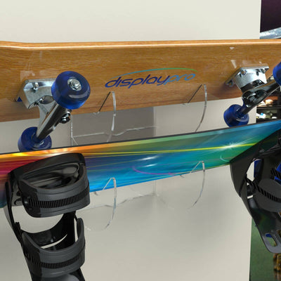 Acrylic Skateboard/Snowboard Holder - Displaypro