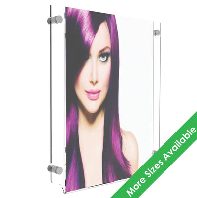 Acrylic Stand-off Wall Poster Display - Displaypro