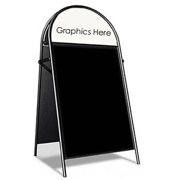Booster Pavement Sign with Chalk Panels - Displaypro