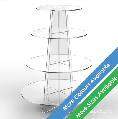 4 tier clear cup cake stand