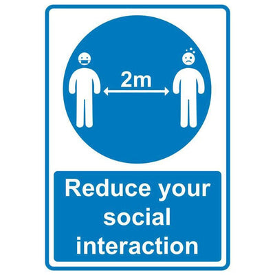 Coronavirus Safety Signage Reduce Social Distances Sign - Displaypro