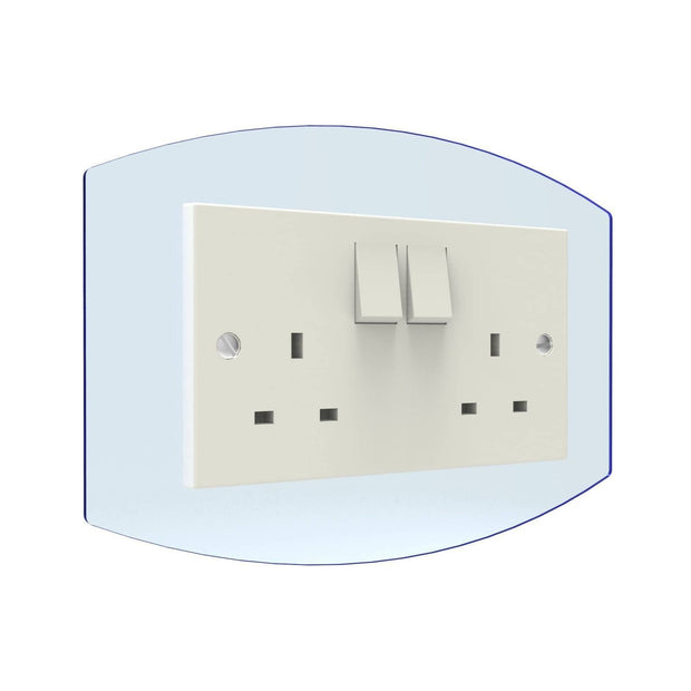 Curved Double Light Switch Surrounds - Displaypro