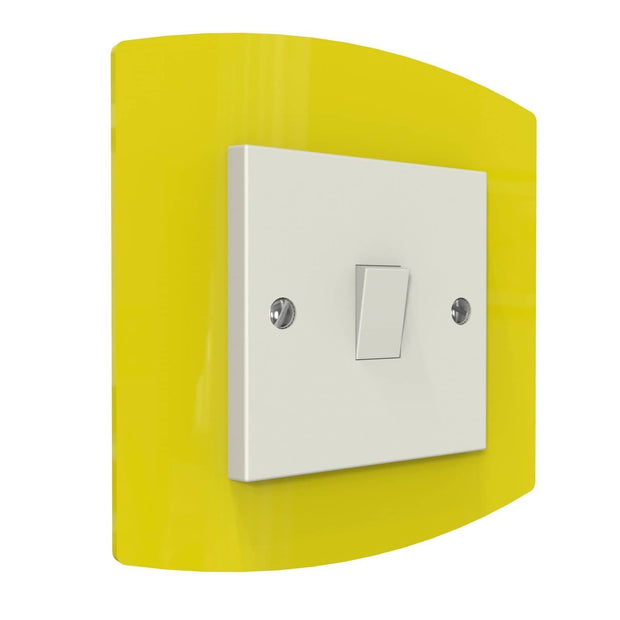 Curved Single Light Switch Surrounds - Displaypro