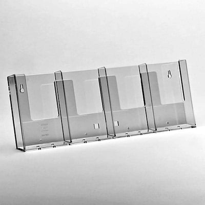 DL 4 bay side by side slatwall leaflet holder - Displaypro