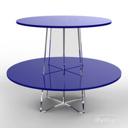 2 tier blue cup cake stand