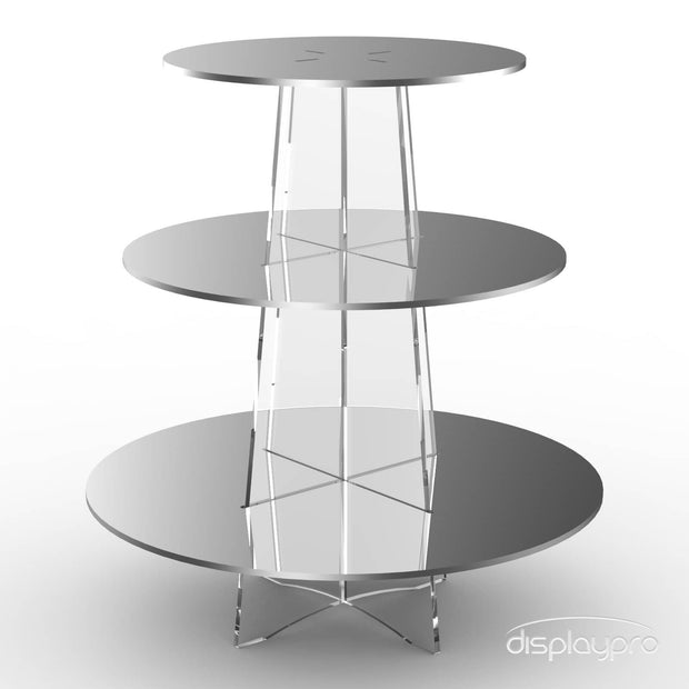 3 tier mirror cup cake stand