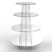 4 tier mirror cup cake stand