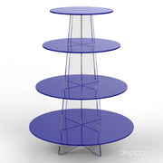 4 tier blue cup cake stand