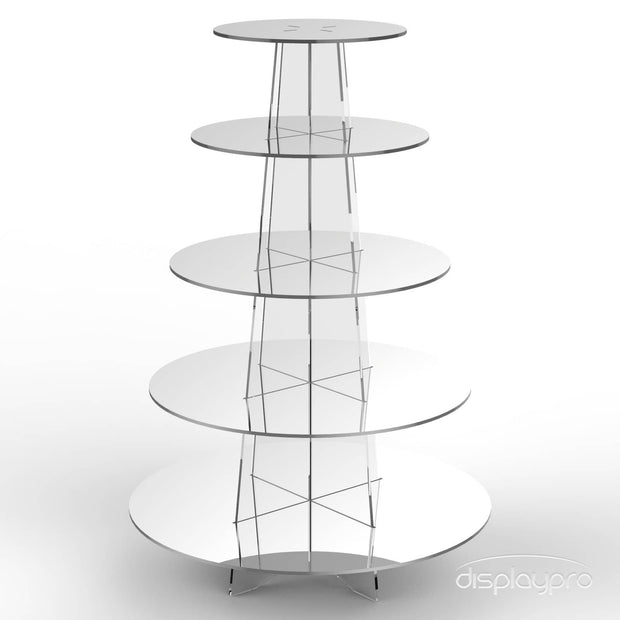 5 tier mirror cup cake stand