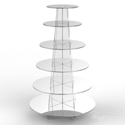 6 tier mirror cup cake stand