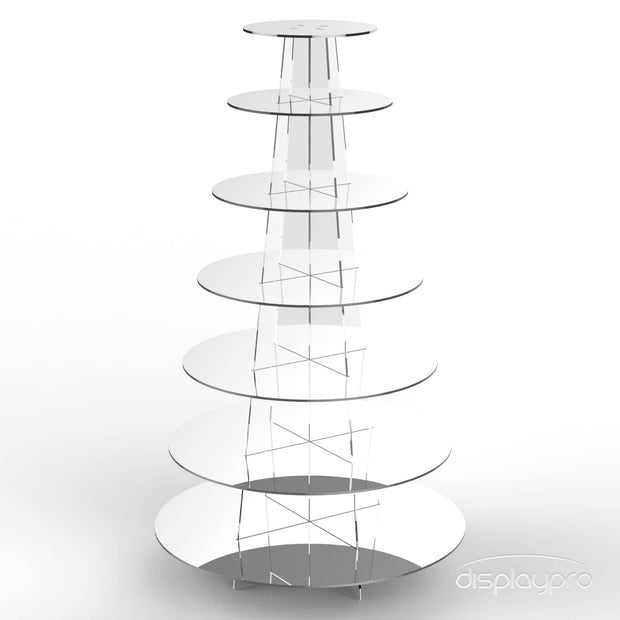 Round Acrylic Cup Cake Stands