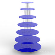 7 tier blue cup cake stand