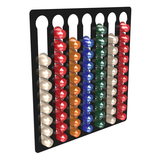7 bay gloss black nespresso coffee pod holder