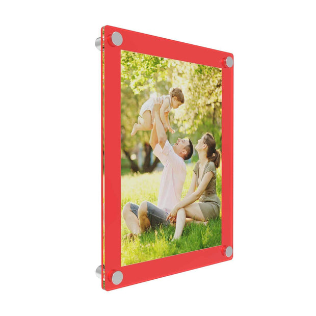 red acrylic photo frames