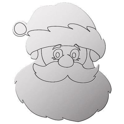 Father Christmas Acrylic Mirror - Displaypro