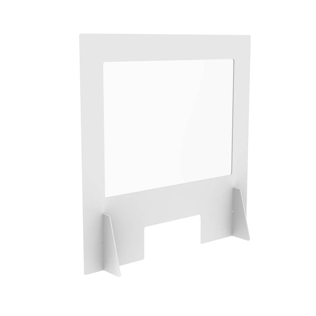 Sneeze Guard Plastic Protective Screen White - Displaypro