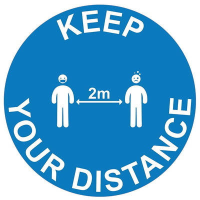 Keep Your Distance Instructional Floor Vinyl Stickers - Displaypro