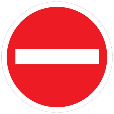 No-Entry Sign Floor Stickers - Displaypro