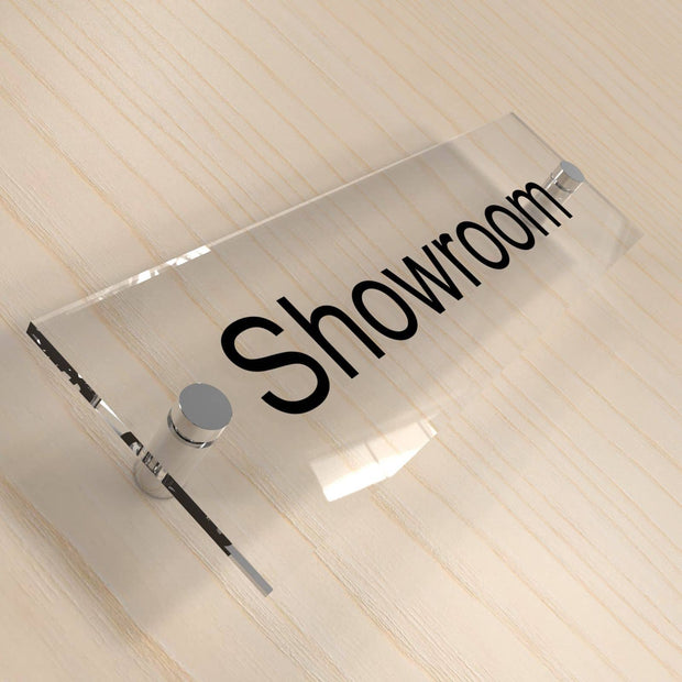 Office Door Plaques - Clear Acrylic - Displaypro